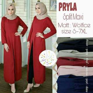 ☘ Pryla Split Maxi ☘  Size: up to 7XL Material : Wolfice Price: $25