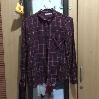 PullandBear plaid shirt