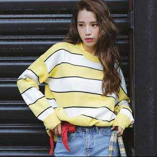 (PO) Korean Stripes Pullover