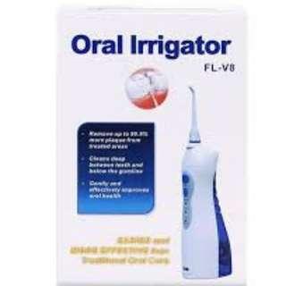 FL-V8 Rechargeable Oral Irrigator Dental Gum Care Water Jet Flosser Waterproof Auto Power-off Blue
