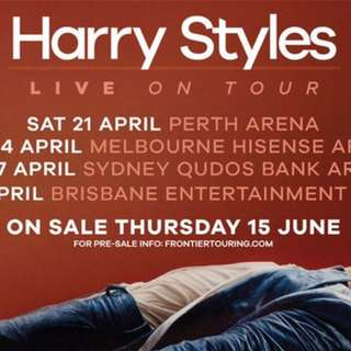2 x Harry Styles Tickets Melbourne Show SOLD OUT