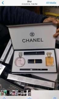Chanel lipstick and perfume set