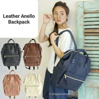 Ready stocks - Anello Leather Backpack