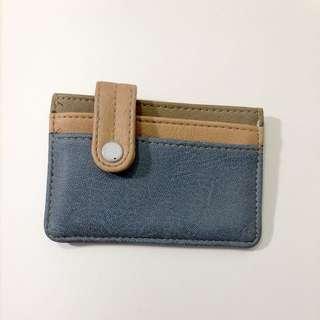 Blue card holder wallet