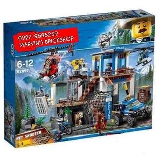 For Sale Police Mountain Headquarter Building Blocks Toy