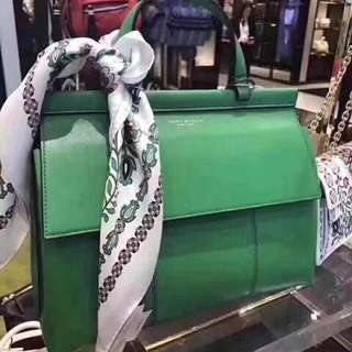 Tory Burch Leather Green colour T Satchel