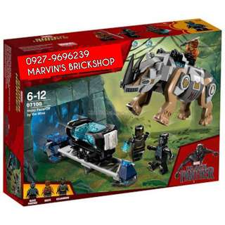 For Sale Black Panther Rhino Face-Off By The Mine Building Blocks Toy