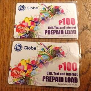 🚚 菲律賓GLOBE電信 手機上網儲值卡 面額100PHP (2張)