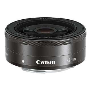 Canon EFM 22mm f/2 STM Lens (Black) BRAND NEW