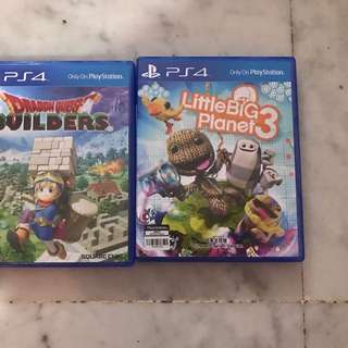 Selling LittleBigPlant3 and Dragon Quest Builders