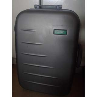 United Colors of Benetton Grey luggage cabin luggage travel luggage-Key Lost for key lock