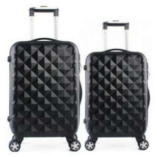 "Luggage Bag diamond black 24"" boleh COD"