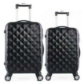 "Luggage Bag diamond black 24"" boleh COD"