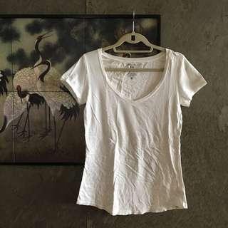 Roots Plain White T Shirt