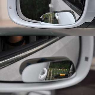 2Pcs  Car 360 Degree Wide Angle Convex Blind Spot Mirror Parking Auto Motorcycle Rear View Adjustable Mirror