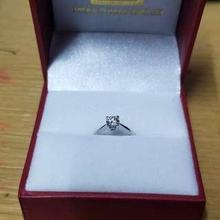 GIA 原裝7號圈鑽石戎指 連單連證書