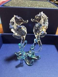 Swarovski 水晶雙海馬擺設