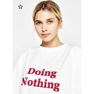OshareGirl 03 歐美簡約純色T恤短袖上衣字母印花設計