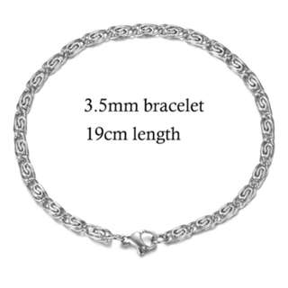 Unisex high quality 316L silver stainless Steel Bracelet.