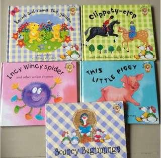 Set of 5 Nursery Mother Goose : Bouncy Beginning