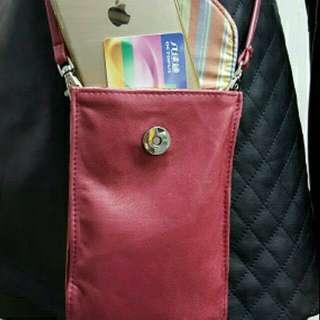 女裝真皮電話袋