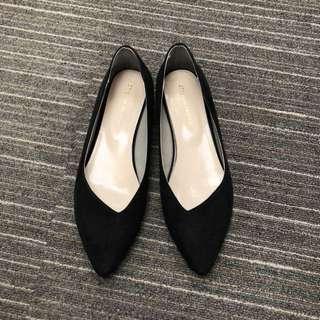 Oriental Traffic黑色金邊平底鞋