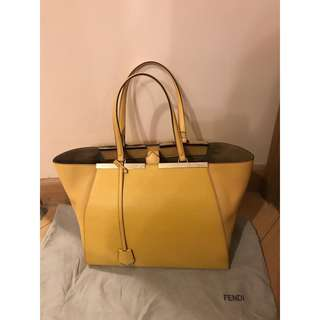 全新正品Fendi bag shopping grande vitello bag