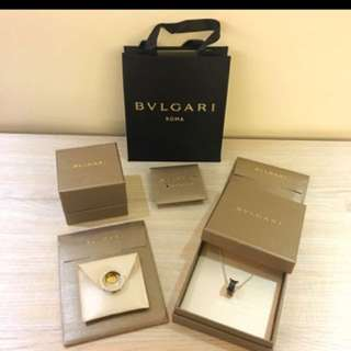 Bvlgari save the children 黑陶瓷單環銀戒指