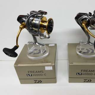 New & Just In Place.! 'Daiwa' LIGHT TOUGH Spinning Reel- FREAMS LT 3000D-C. (Reel Wt: 215g, Gear ratio: 5.3:1, Max drag: 10kg)
