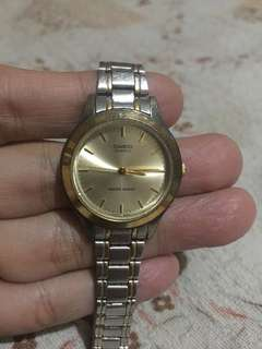 Casio classic watch two toned
