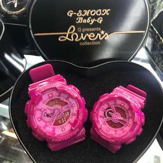 G-shock Couple Watch pink