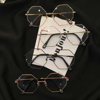 INSTOCK <Korean ulzzang hexagonal hexagon> fake spectacles fake specs no degree frame