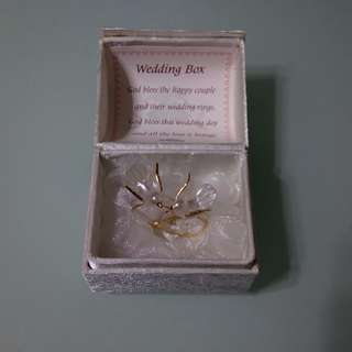 Wedding Box with 2 rings