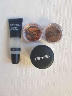 BYS festival face glitter make up