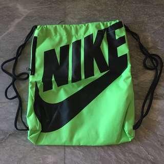 Nike Neon Drawstring Bag