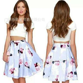 Crop Top + Skirt Terno