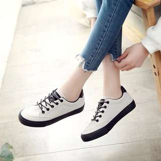 ulzzang basic canvas shoes