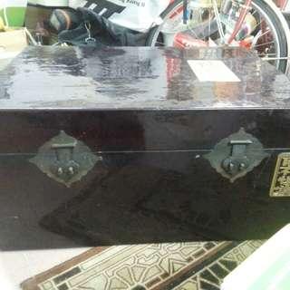 中古漆器大樟木箱
