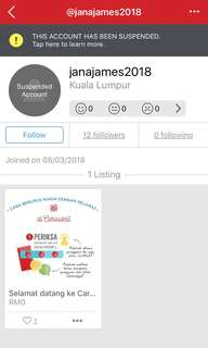 Fellow Carousell-ers,Please be careful of this account.