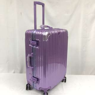 Brand New 24 inch Purple Aluminium Frame Luggage with Tsa Locks