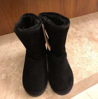 🚚 韓國ollie黑色雪靴
