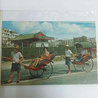 香港人力車明信片