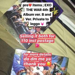 EXO KOKOBOP THE WAR 4TH ALBUM