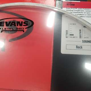 Evans G1 clear 13inch drumhead
