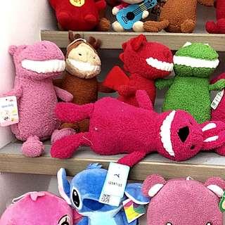 抓捉娃娃機,玩具布玩偶恐龍青蛙