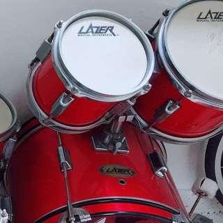 Lazer drum set for kids