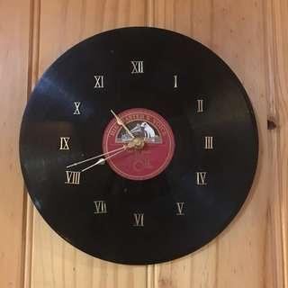 🇦🇺 非賣品(純欣賞)His Master's Voice record clock 古董唱片掛牆鐘