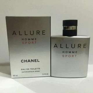 AUTHENTIC CHANEL ALLURE HOMME SPORT EAU DE TOILETTE FOR MEN 100ml