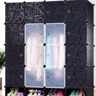 16 Cubes Wardrobe Cabinet - comes with 2 hangers