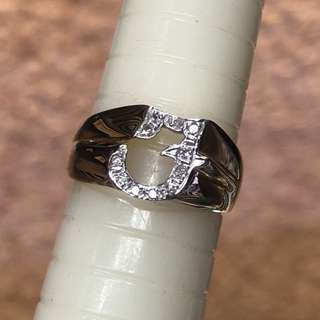 14kt diamond ring initial